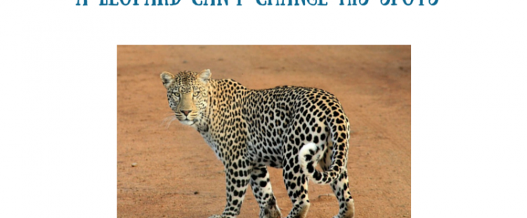 a leopard cannot change his spots Can a leapord change its spots contributed by roger thomas on may 26, 2004 (message can a leopard change its spots on and on the stories could go.
