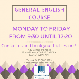 JOIN OUR GENERAL ENGLISH COURSE!
