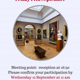 Our next social event: National Portrait Gallery