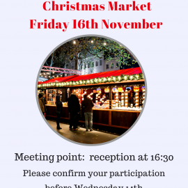 Our next social event: Leicester Square Christmas Market