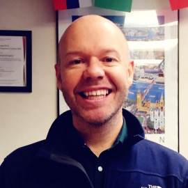 We are glad to introduce you our amazing teacher: Colin!