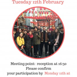 Next social event: Chinatown and Soho Walking tour