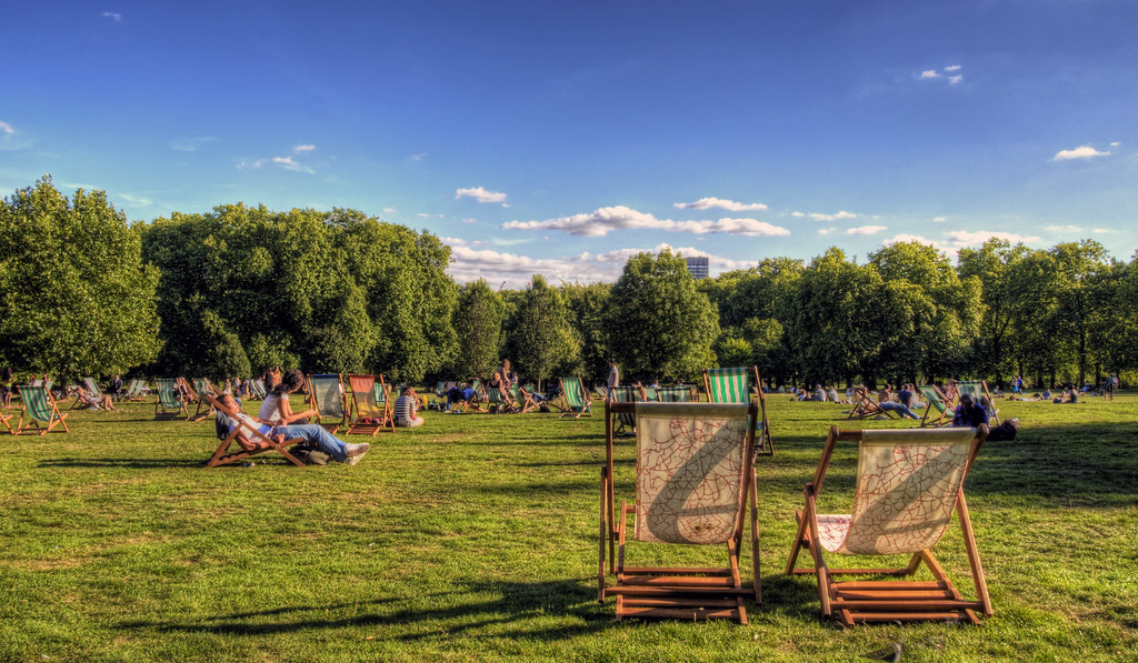 Green Park, London on a Sunny Afternoon