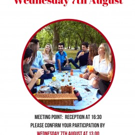 Our Next Social Event: Picnic @Hyde Park