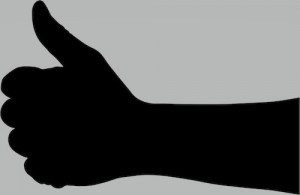Thumbs-Up-Hand-Silhouette