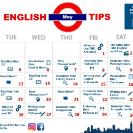 Here you go: your English calendar for May