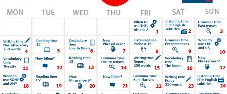May Calendar to improve English