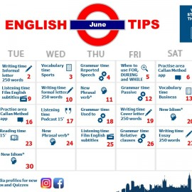 Here you go: your English calendar for June